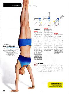 How to build up to a handstand in Yoga