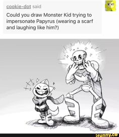 undertale, monsterkid, papyrus