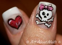 High quality products sold at All About Nails. Start a new career become a nail technician today! Skull Nail Art, Skull Nails, Matte Nails, Acrylic Nails, Sculpted Gel Nails, Painting Tattoo, Nail Technician, Acrylic Nail Designs, Diy Beauty