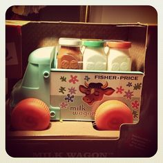We have a great little selection of retro toys, including this Milk Waggon, in store now!  rowdyroddyvintage