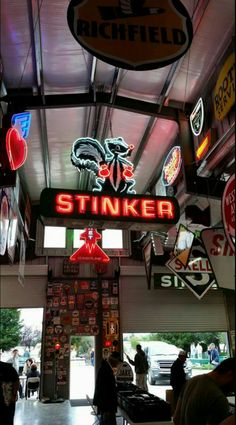 Restored Original Stinker Neon Sign