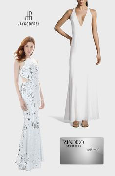 Check out these Grammy-worthy gowns from Jay Godfrey. The Abbotsford T-Back Gown and Stanfield Cutout Gown is sure to turn heads. Use code GRAMMY25 for 25% off a purchase, valid 03/1/2016 - 03/8/2016. #zindigo