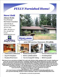 For Sale: $325,000-4 Bedroom, 2.5 Bath, 2634 SF Exceptional Two Level Muirwood Home on .29 Acre Lot in Vancouver, WA!