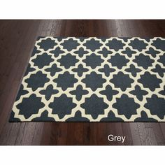 $313 Handmade Marrakesh Trellis Wool Rug (7'6 x 9'6)   Overstock.com