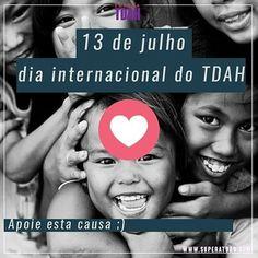 """Hoje é dia 13 de julho dia internacional do TDAH. Hoje é dia de nos conscientizarmos de um problema que afeta milhões de pessoas. Mais do que isso é dia de nos conscientizarmos que apesar de ainda não existir uma """"cura"""" para o TDAH nós podemos sim supera-lo e alcançar nossos sonhos pois todos nós nascemos para ser feliz! #diainternacionaldotdah #feliz #superatdah  #superacao  #tdahlgrenevents  #tdah  #sorriso  #crianças #kids #tdah #adhd #dda #defict"""