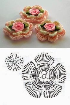 Tecendo Fios. Profissão, Arte e Terapia através do crochê, tricô e muito mais: Flores