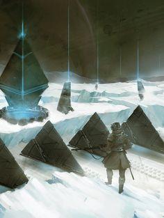 Inspired by Bungie's Destiny Destiny Gif, Destiny Comic, Destiny Bungie, Sci Fi Fantasy, Fantasy World, Dark Fantasy, Concept Art World, Environment Concept Art, Destiny Backgrounds
