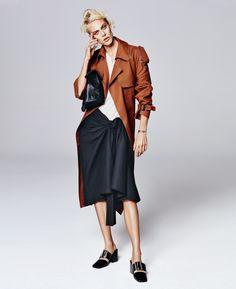 Aymeline Valade in Trendy Skirts for Porter Magazine