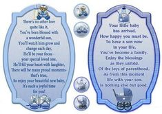 Two Baby Boy Verse Toppers By Janyce Cotterill