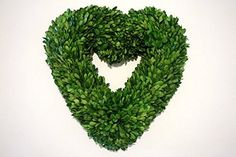 PND's Handcrafted Naturally Dried Organic Floral Wreaths: Preserved Boxwood Heart Wreaths. At Pick'nDaisies preserved wreaths and live floral arrangements are not created until an order is placed. The thought is that if PND does everything possible to ensure your wreath's freshness, then not only will you receive a product that will be of optimum quality, but it will also last longer and remain fragrant for an extended time. Though all of PND's artisanal wreath are handcrafted in Maryland...