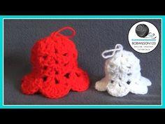 Christmas Bell Ornament Crochet Tutorial - YouTube