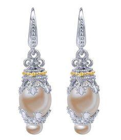 925 Silver 18k Yellow Gold Mediterranean Drop Earrings from Gabriel & Co.