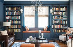 3 Great Living Room Designs that People Sometimes Underestimate There are many great living room designs you can apply to. But, today we provide you with some designs that are perfect for a tiny living room design. Home Library Design, House Design, Bohemian Style Bedrooms, Up House, Blue Rooms, Home Decor Bedroom, Living Room Designs, Bookcase, Quartos