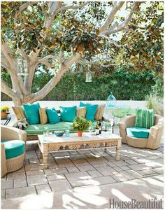 Outdoor seating area