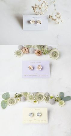 Handcrafted porcelain floral inspired jewellery, ethically created in Yorkshire by Marie Canning.