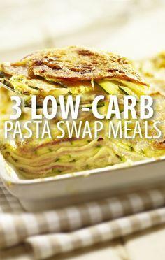 Love pasta, but hate carbs? Dr Oz asked experts to share low-carb, low-calorie swaps like Shirataki Noodles, Kelp Noodles, and a Zucchini Lasagna Swap. http://www.recapo.com/dr-oz/dr-oz-diet/dr-oz-shirataki-noodles-kelp-noodles-zucchini-lasagna-swap/