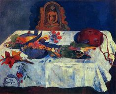 -  Paul Gauguin - Still Life with parrots