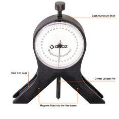 Groz Tools Magnetic Compass, Welding Shop, Tool Room, Engineering Tools, Protractor, It Cast