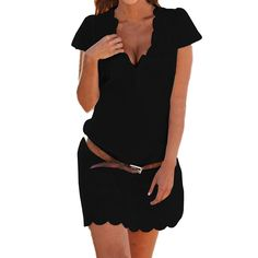 b1d41a8e5f SUNNOW® Casual Lace Floral Skirt Party Dress Women s T-Shirt Blouses An  elastic waist