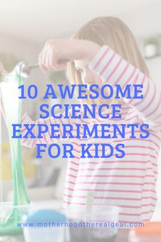 10 awesome science experiments for kids Cool Science Experiments, Preschool Learning Activities, Preschool Printables, Preschool Lessons, Teaching Kids, Kids Learning, Parent Resources, Learning Resources, Kids And Parenting