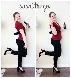 The Lazy Girl's Guide to Halloween costumes, sushi costume, last minute party costume, crafts, costume idea, DIY