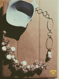 Pearls and juta necklace