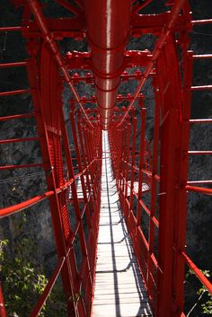 Suspension Bridge, Valais, Switzerland.  visually really interesting