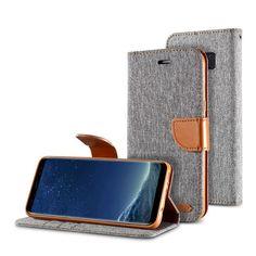 Canvas Wallet Card Slots Bracket Flip Case For Samsung Galaxy S8/S8 Plus