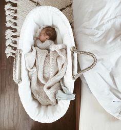penelope baby blanket - linen