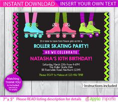 roller skating birthday party / roller skate by TinyConfetti