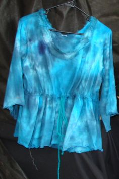 plus size top tie dye top baby doll top XL by WindyMountainDesigns
