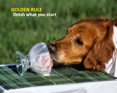 golden rule... finish what you start