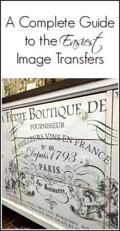 If you have ever been curious about image transfers for your painted furniture makeovers or DIY projects here is a complete guide to the easiest image transfers and where to find them. IOD image transfers are the easiest embellishments for your project via @justthewoods