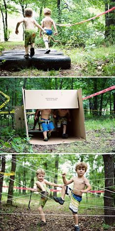 17 fun outside games kids will love playing For kids who like to run and clamber, a DIY Obstacle Run is perfect. Create an obstacle course with things like tires or. Outside Games For Kids, Outdoor Games For Kids, Outdoor Fun, Outdoor Ceremony, Water Games For Kids, Indoor Games, Outdoor Rooms, Outdoor Dining, Outdoor Lighting