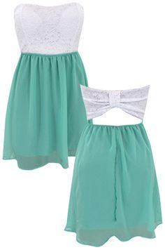 Bow Back Chiffon Dress