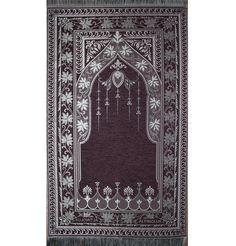 Altinoluk Lux Chenille Turkish Prayer Mat - Purple | Modefa USA