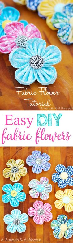 Easy Fabric Flower Tutorial Great homemade gift for the little girls in your life