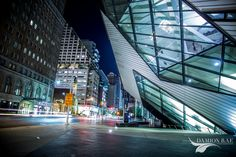 Toronto Nights: Toronto Landmarks at NightDamion Rae Photography Royal Ontario Museum, Toronto, Times Square, New Homes, Night, Architecture, World, City, Places