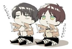 levi attack on titan cleaning chibi - Google Search