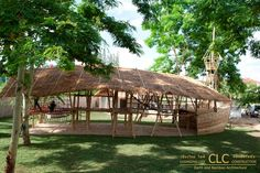 Playboat The Playboat is an imaginative children's playground design with many integrated features made entirely of bamboo. It is covered by a large thatch roof so it can be used during hot as well and rainy days. Children learn how…