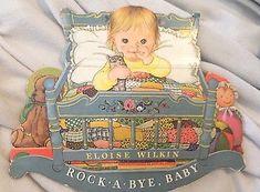 1981 Rock A Bye Baby Shape Book Eloise Wilkin Nursery Rhymes and Cradle Songs