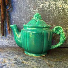 Excited to share the latest addition to my #etsy shop: McCoy Green Art Pottery Tea Pot #teapot