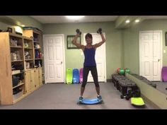 Simply Fit Board Total Body Workout With Rosalie Brown 1 of 3 Simply Fit Board Reviews, Fit Board Workouts, Simply Fit Board Exercises, Simple Workouts, Workout Board, Body Workouts, Boxing Workout, Balance Board Exercises, Fit Girl