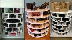 If you're looking for a great shoe storage system, then this DIY lazy Susan shoe organizer is for you! This storage idea keeps your shoes neat, organized, and all in one place. No more hassle in the mornings when choosing your footwear for the day! Where do you usually store all your shoes? In your garage, bedroom or walk-in closet? Well, you can always put this mechanism almost anywhere you want. :) You'll need these materials: 9 pcs 700mm dia x 12mm Plywood Discs 24 pcs 250x150mm 12...