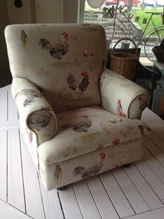 child's chair upholstered in Annie Sloan fabric, Brush by MacDonald Wlodarski, Warsaw, Poland.