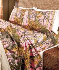The Woods Sheet Set camouflages your bed in a natural print that resembles hunting camo. Wrinkle-resistant fabric is easy to care for, so you can spend more tim