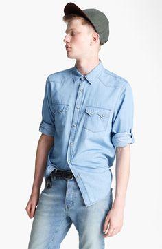 Topman Denim Western Shirt   #Nordstrom #BritishStyle
