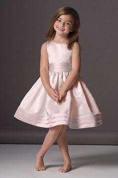 Seahorse Girls Dress 46248 Cotton Candy Duchess Satin & Rosequartz Trim