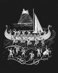 Loki, Thor, Norse Tattoo, Viking Tattoos, Traditional Tattoo Black And White, Viking Pattern, Freya, Vegvisir, Asatru