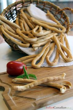 Taralli  (Italian Bread Sticks)  These are a staple in almost every Italian household (at least the Italians I know) :-)  My kids have grown up on them made by their Nonna and now my grandchildren are enjoying them too.